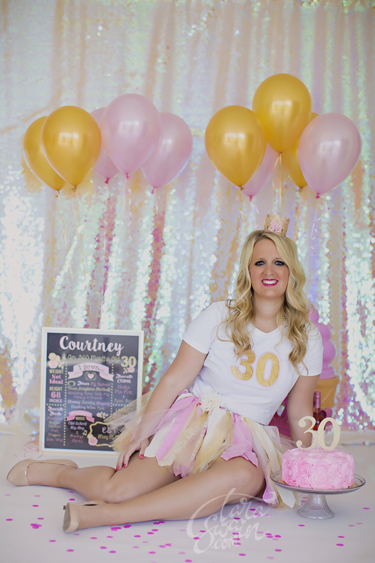 Such A Fun Cake Smash D Few Favorites From Courtneys 30th Birthday Shoot